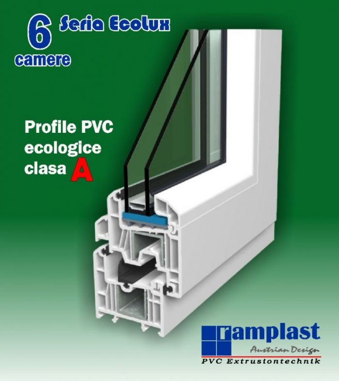 Profil PVC Ramplast seria EcoLux pentru ferestre si usi