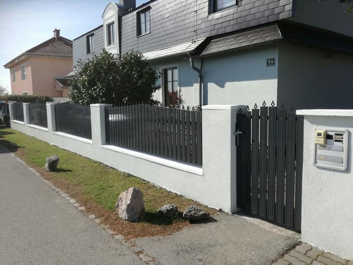 Gard aluminiu cu ornament 1